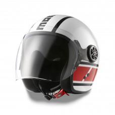 Kask MD Jet Speedblock (biały/czerwony)